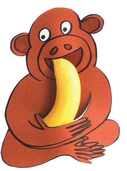 Aap Eet Banaan Gezonde Fruit Traktatie