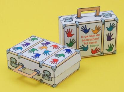 Zwaaiende Handjes Koffer afscheidstraktatie