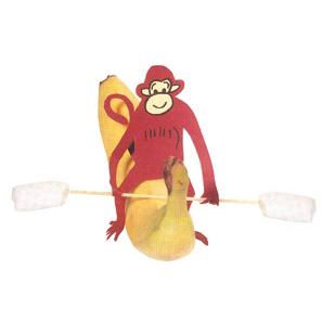 Gezonde traktatie met een banaan