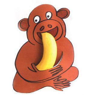 aap banaan traktatie voor schooltraktatie