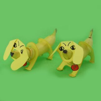dieren traktatie met gezonde banaan