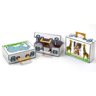 verhuistraktatie, safari koffertje, zelf maken