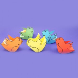 gekleurde vogeltjes traktatie