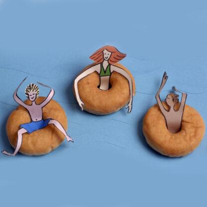 zwemband traktatie voor donut