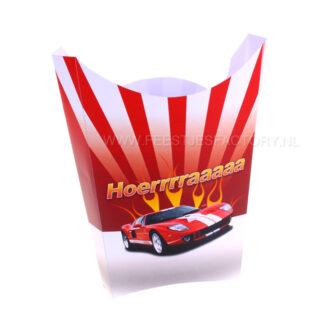 Raceauto traktatie voor chipszakje of popcornzakje