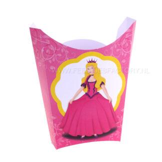 prinsestraktatie voor chipszakjeof popcornzakje